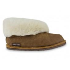 Pantoffel Texla met schapenwol en rubberen zool