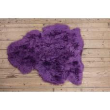 Geverfde IJslander schapenvacht lavendel/geschoren